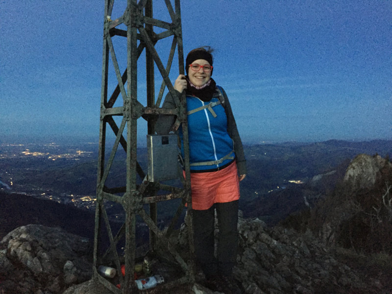 goodblog - Mein Hausberg: Der Schoberstein - Gipfel Abend