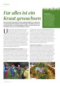 Artikel im Biomagazin: Kräuterpädagogik