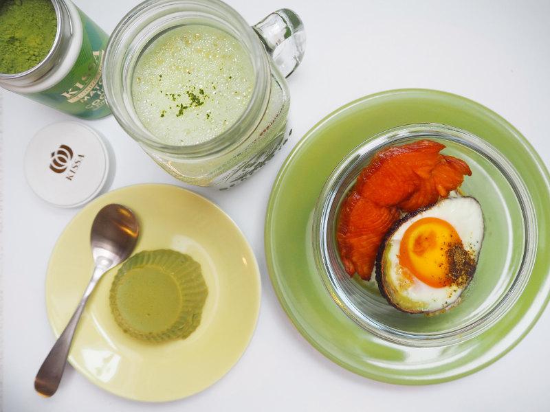 goodblog: Vegane Matcha Latte, veganer Matcha Pudding und Avocado-Frühstück