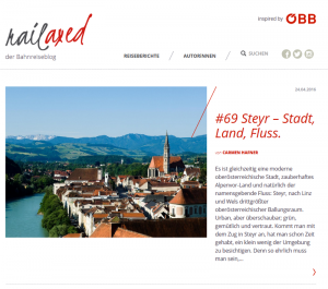 goodblog meets ÖBB: Mit dem Zug nach Steyr