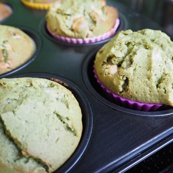 goodblog: Geburtstags-Gewinnspiel: Matcha-Muffins mit weißer Schokolade