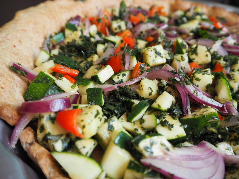 goodblog: Dreierlei vegetarische Quiche - Giersch-Quiche