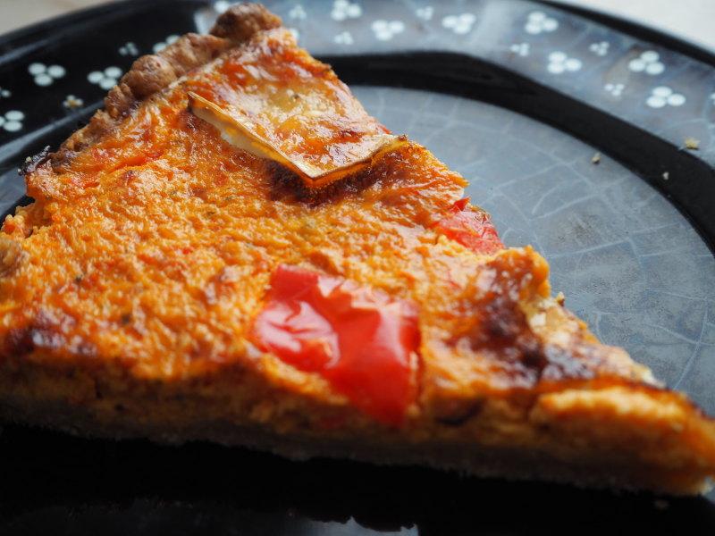 goodblog: Dreierlei vegetarische Quiche - Paprika-Quiche