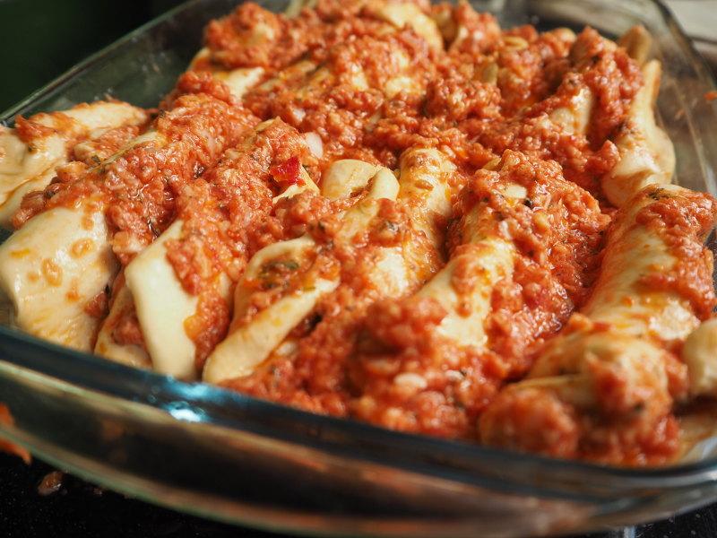 goodblog: Faltenbrot mit Tomaten und Mozzarella - vorbereiten