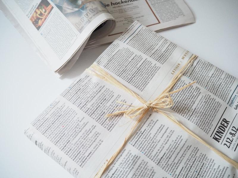 goodblog im Biomagazin: Schenk keinen Mist - Zeitungspapier statt Geschenkspapier