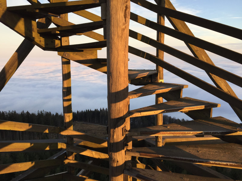 goodblog: Die schönsten Sonnenaufgänge - über dem Nebel auf der Dambergwarte