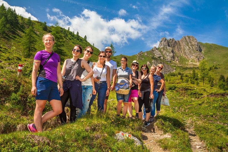 goodblog im Großarltal: Almkräuter & Kameratest - Gruppenfoto