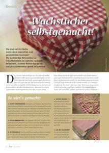 goodblog im Biomagazin: Wachstuch selbermachen