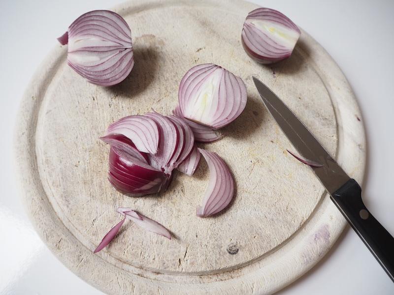 goodblog: Leinöl-Kartoffeln - Zwiebel fürs Topping