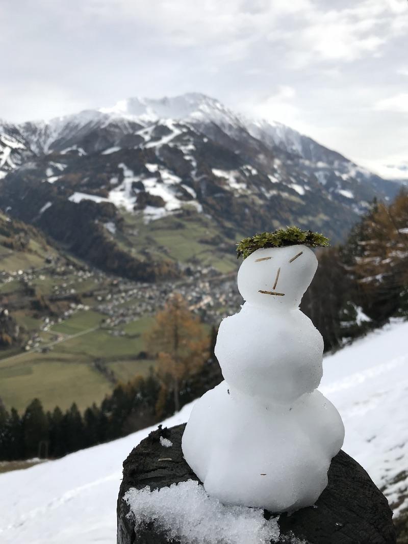 goodblog in Osttirol: Kräuterwirtshaus Strumerhof - Schneemann