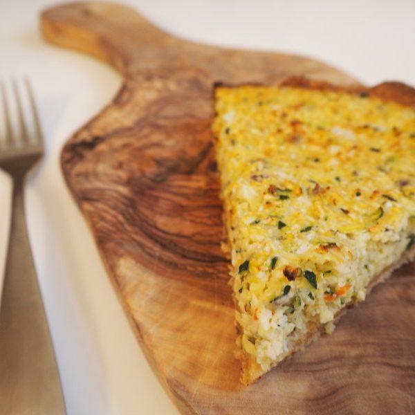 goodblog: Dreierlei vegetarische Quiche - Zucchini-Quiche