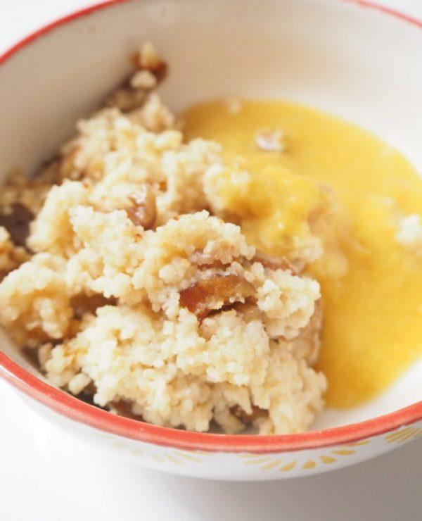 goodblog: Sanft gesüßtes Couscous-Frühstück: die herbstliche Variante mit Maroni